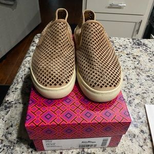 Tory Burch Jesse Perforated Sneakers, Tan